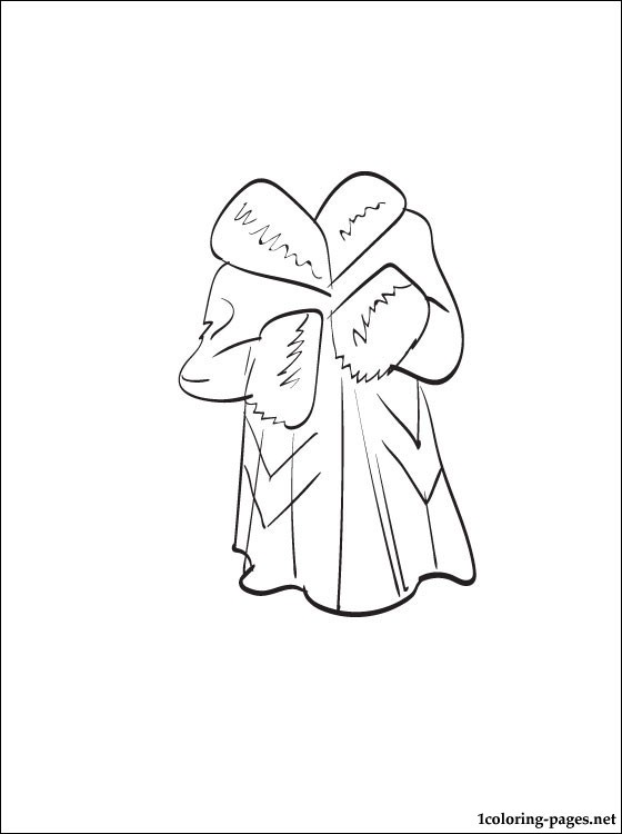 560x750 Fur Coat Coloring Page Coloring Pages
