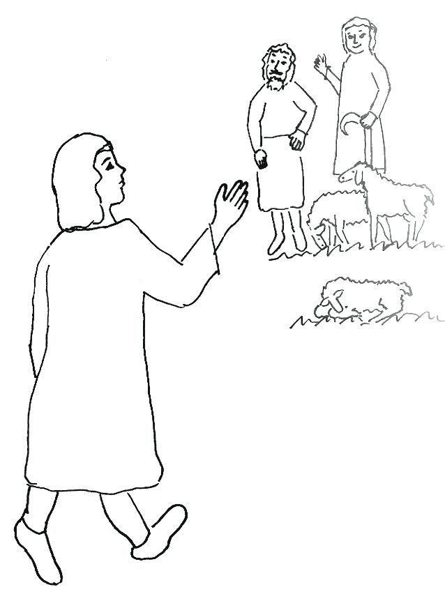 638x852 Joseph And His Coat Colouring Pages Bible Story Coloring Page