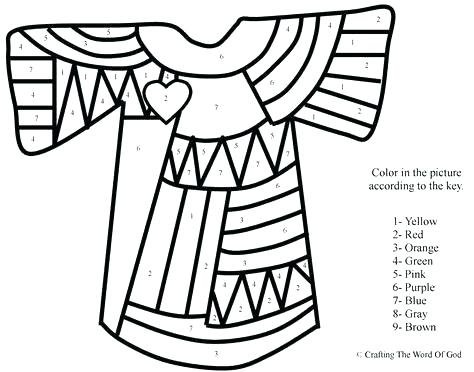 474x372 Joseph Coat Of Many Colors Coloring Page Colorful Coat Coloring