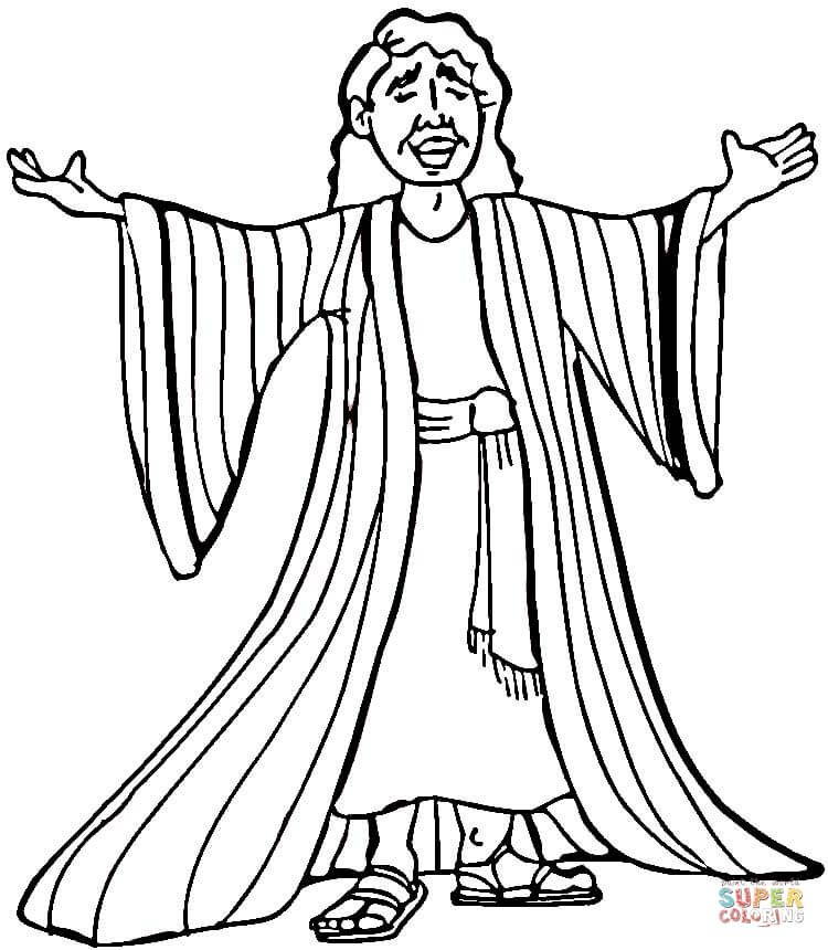 750x860 Joseph Coloring Pages Joseph Many Colored Coat Coloring Page Free