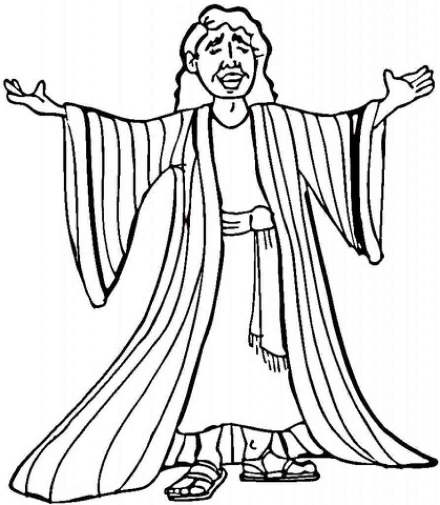 893x1024 Joseph Many Colored Coat Coloring Page Free Printable Pages