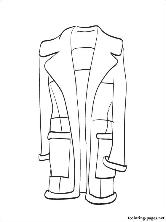 560x750 Sheepskin Coat Coloring Page Coloring Pages