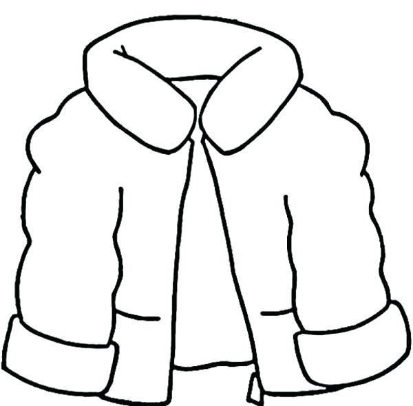 600x590 Winter Clothes Coloring Pages Lovely Coat Winter Clothes Coloring