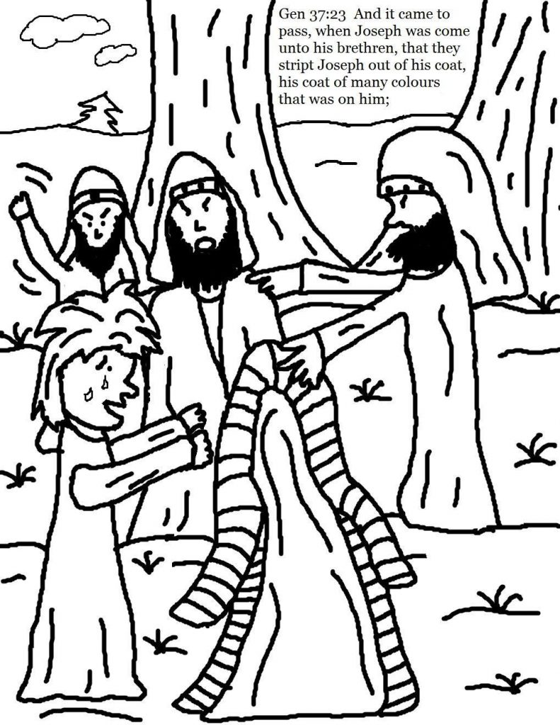 791x1024 Joseph And His Coat Of Many Colors Coloring Page Joseph Coat