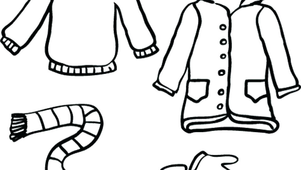 960x544 Winter Coat Coloring Page