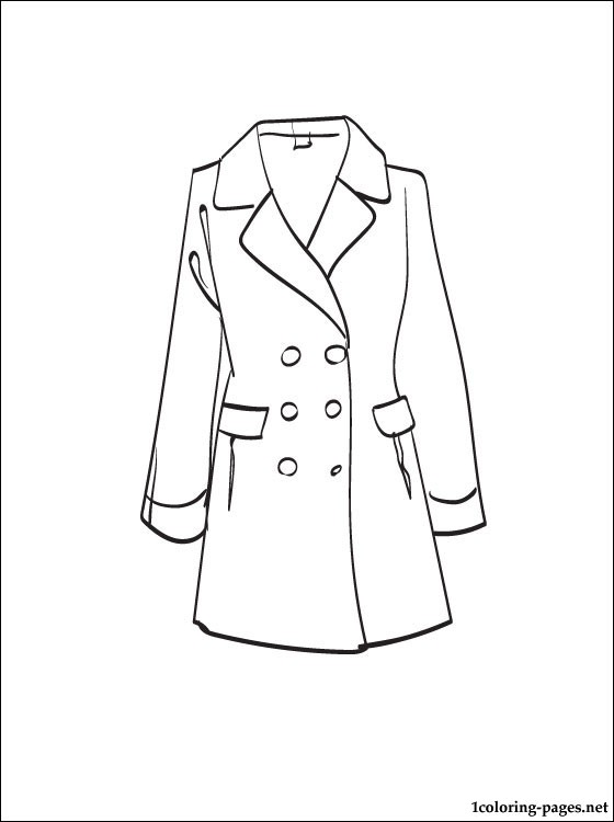 560x750 Coat Coloring Page To Print Out Coloring Pages
