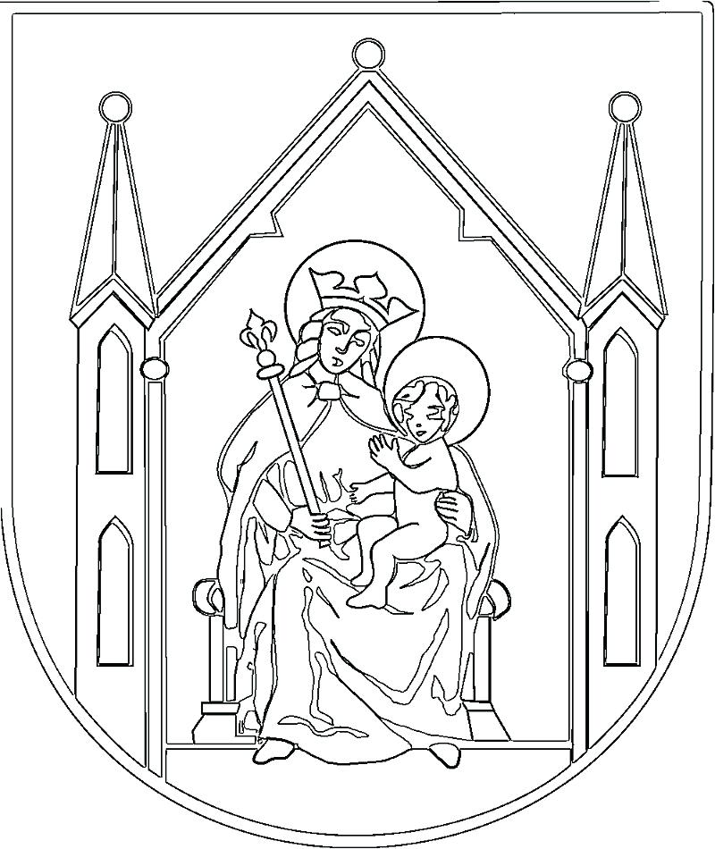 800x950 Coloring Pages Mary Mother Of God Virgin And Child In Coat Of Arms