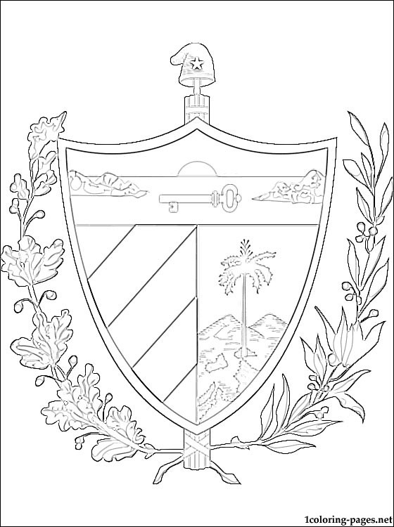 560x750 Cuba Coat Of Arms Coloring Page Coloring Pages