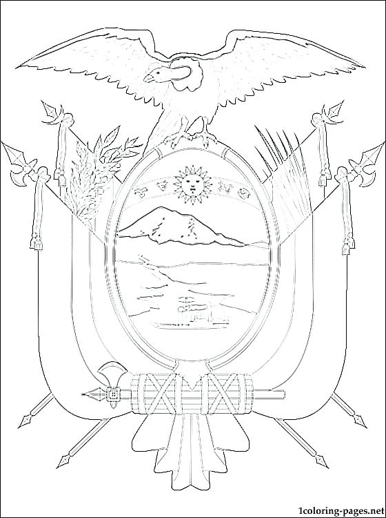 560x750 Ecuador Flag Coloring Page Coat Of Arms Coloring Page Coloring