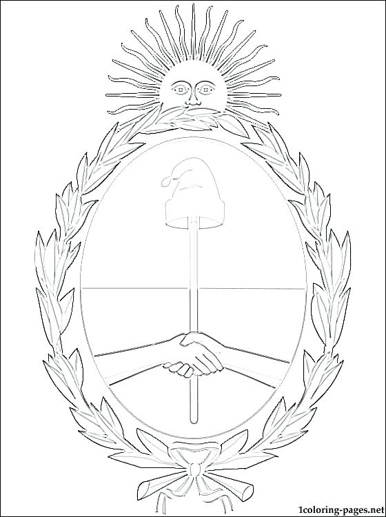 560x750 Argentina Coloring Pages Coat Of Arms Coloring Page Argentina Flag