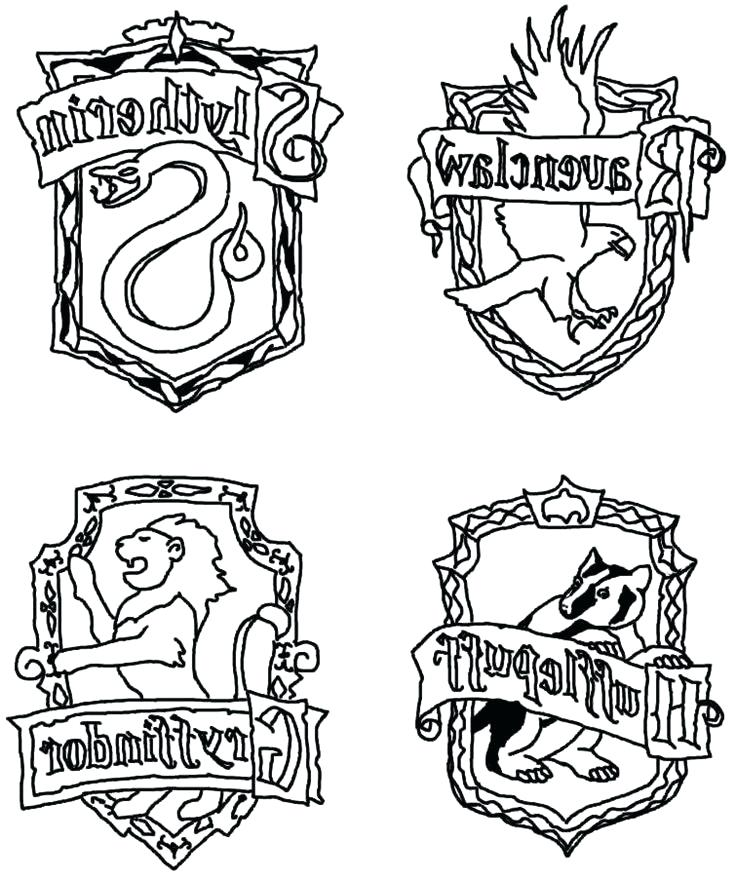 736x880 Gryffindor Crest Coloring Page Crest Coloring Page For Harry