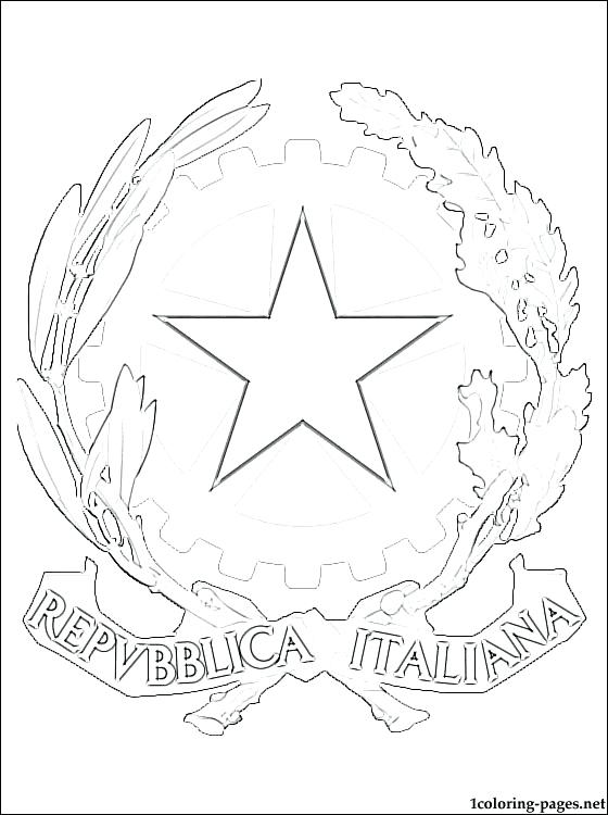 560x750 Italy Coloring Pages Coat Of Arms Coloring Page Italy Map Coloring