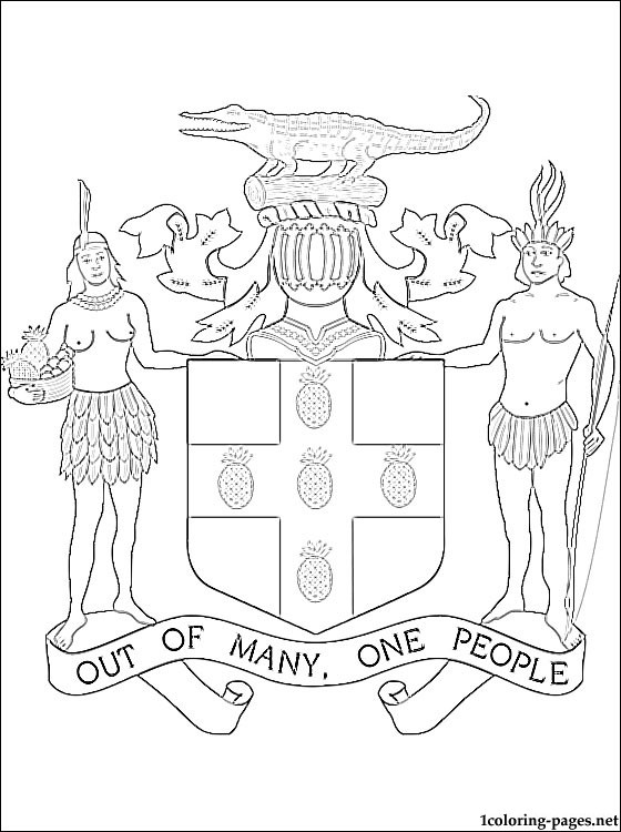 560x750 Jamaica Coat Of Arms Coloring Page Coloring Pages