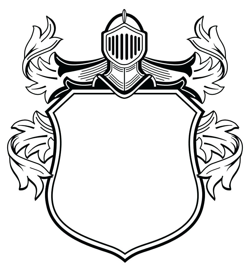 800x870 Knight Coloring Page Coat Of Arms Coloring Page Download Knight