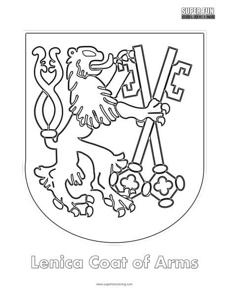 464x600 Lenica Coat Of Arms Coloring Page