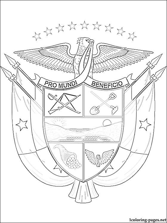 560x750 Panama Coloring Pages