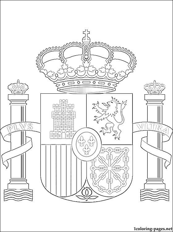 560x750 Spain Coat Of Arms Coloring Page