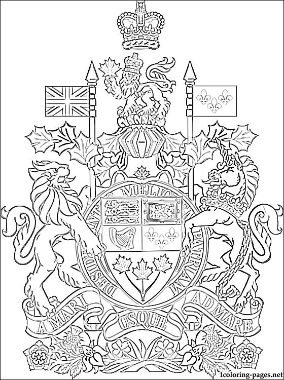 560x750 Canada Coat Of Arms Coloring Page Coloring Pages