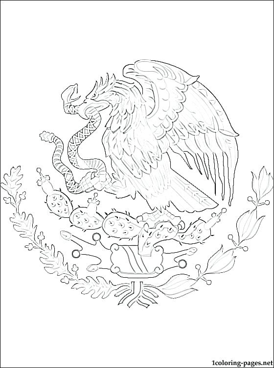 560x750 Coat Of Arms Coloring Also Coat Of Arms Coloring Page Mexico Flag