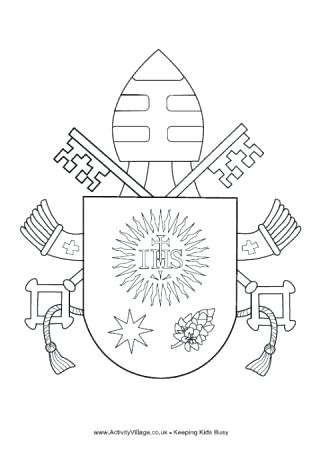 320x456 Coat Of Arms Coloring Page Coat Of Arms Pope Catholic Coloring