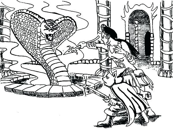 600x447 King Cobra Coloring Pages King Cobra Princess And King Cobra King