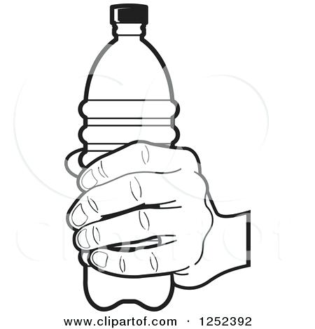 450x470 Coloring Pages Bottles Water Bottle Page Panda Free Images Black