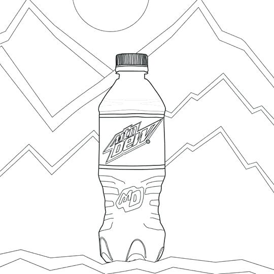 540x540 Water Bottle Coloring Page Coca Cola Bottle Coloring Page Water