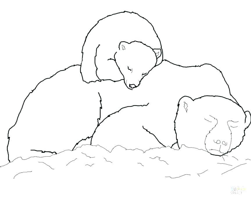 863x685 Polar Bears Coloring Pages Coloring Page Bear Printable Polar Bear