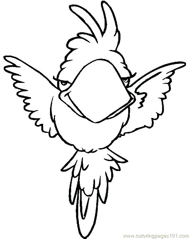 612x770 Coloring Pages Parrot Parrot Coloring Pages Parrot Coloring Pages