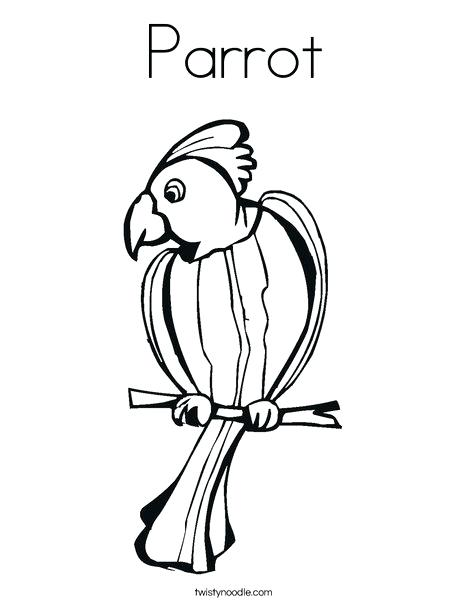 468x605 Parrot Coloring Sheet Parrot Coloring Page Parrot Coloring Page