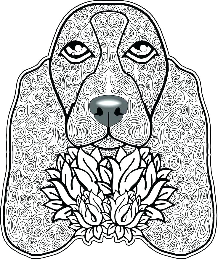736x873 Free Coloring Pages Of Dogs Free Coloring Pages Of Dogs Spaniel