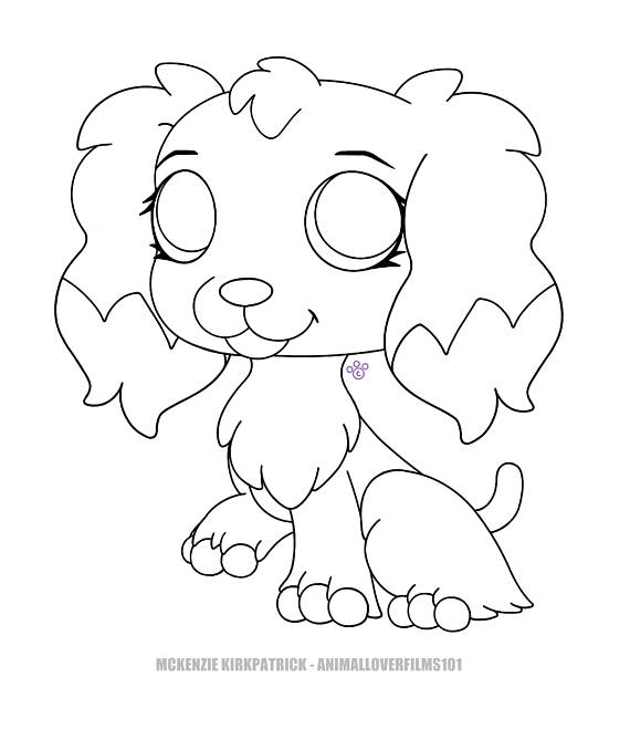 570x659 Lps Cocker Spaniel Coloring Page