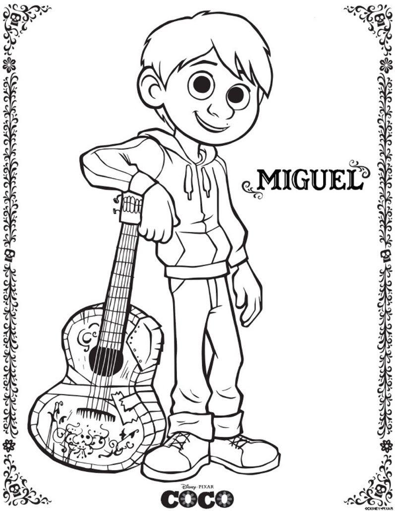 797x1030 Miguel Coco Imagen Para Colorear Dibujar Pintar Imprimir Recortar