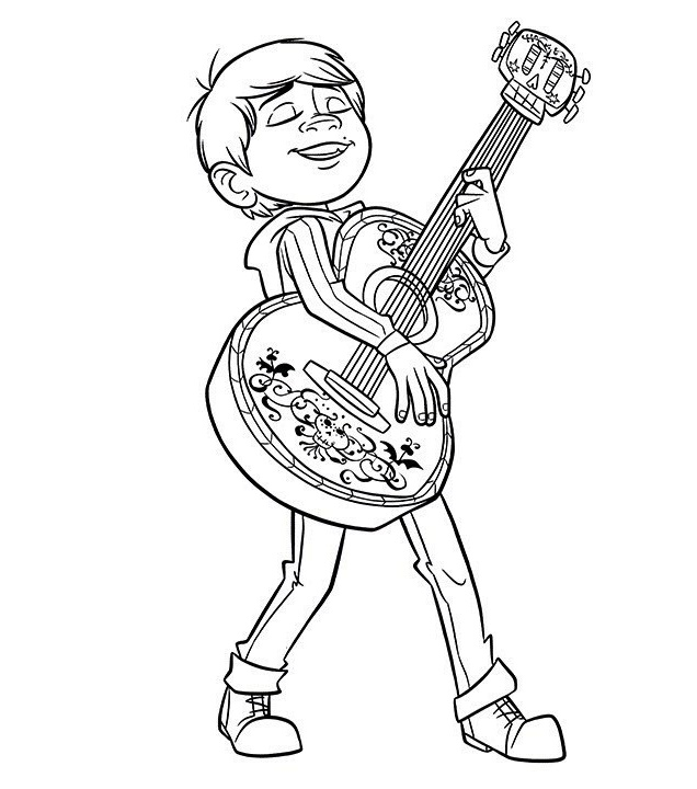 Coco Movie Coloring Pages At Getdrawings Com Free For Personal Use