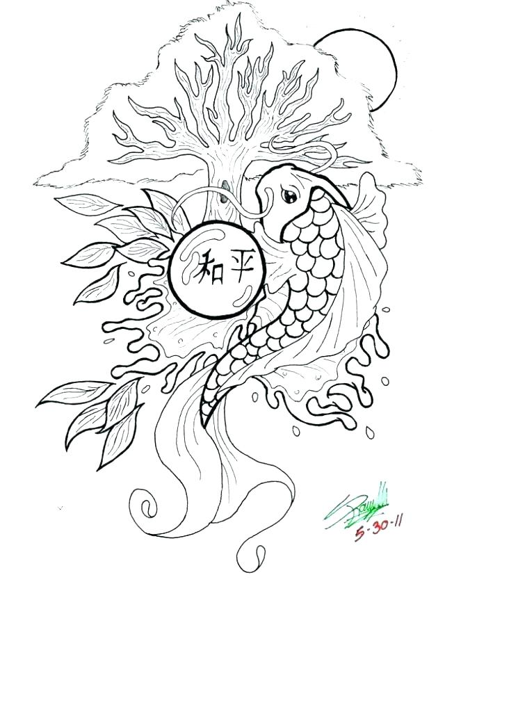 745x1024 Best Of Saltwater Fish Coloring Pages For Drawn Fish Cod Fish