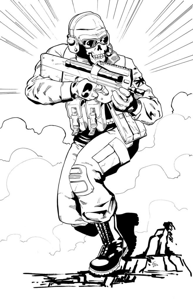 657x1024 Cod Coloring Pages