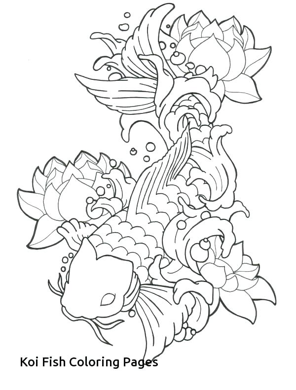 600x791 Koi Fish Coloring Pages Fish Coloring Pages Fish Coloring Pages