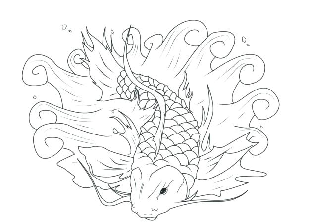 626x453 Koi Fish Coloring Pages Fish Coloring Pages Regarding Fish