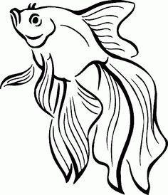236x274 An Illustration Of A Happy Cute Cartoon Cod Fish In Black