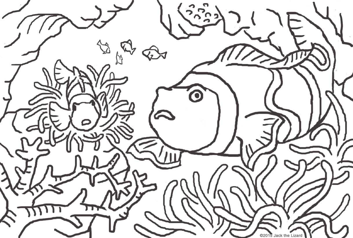 1219x822 Animal Coloring Pages