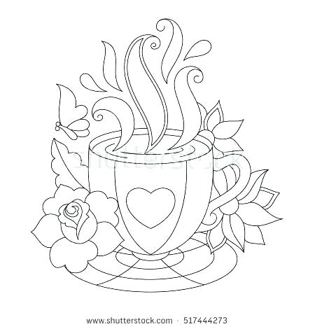 Coffee Coloring Pages Printable At Getdrawings Com Free For