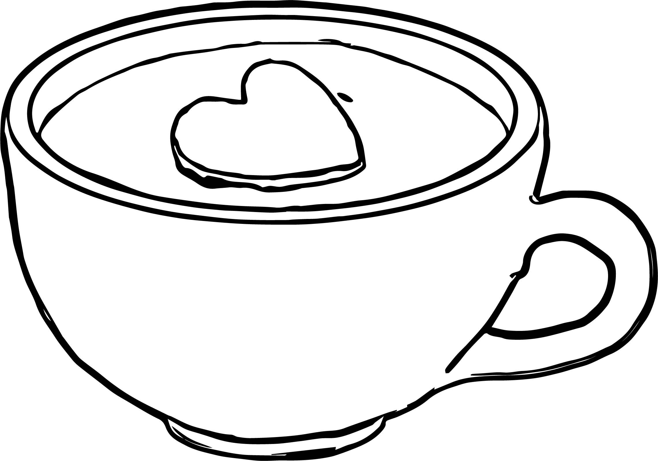 2279x1598 Coffee Cup Coloring Pages Ivector Co In Page At Cup Coloring Page