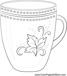 236x268 Coffee Mug Coloring Page Coloring Pages Blog I Love To Doodle