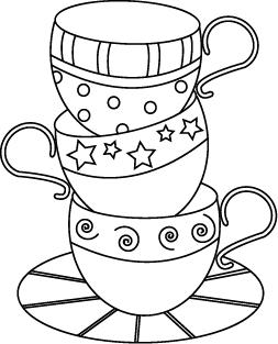 253x313 Cute Teacup Embroidery Pattern Could Be Used For A Digi Stamp Too