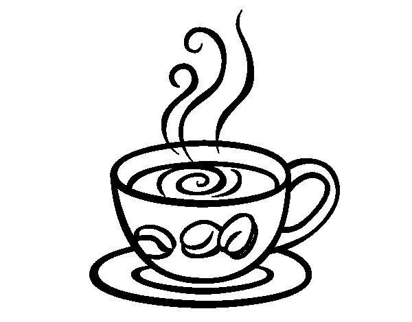 600x470 Espresso Coffee Coloring Page I Coffee Espresso