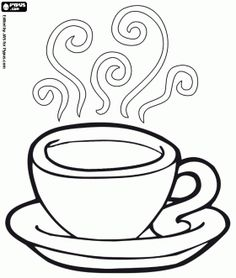 236x278 Free Coloring Page Coffee Cup Kids Activities