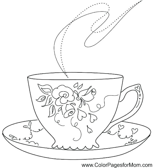 640x698 Coffee Coloring Page Adult Coloring Gifts Coffee Cup Of Coffee