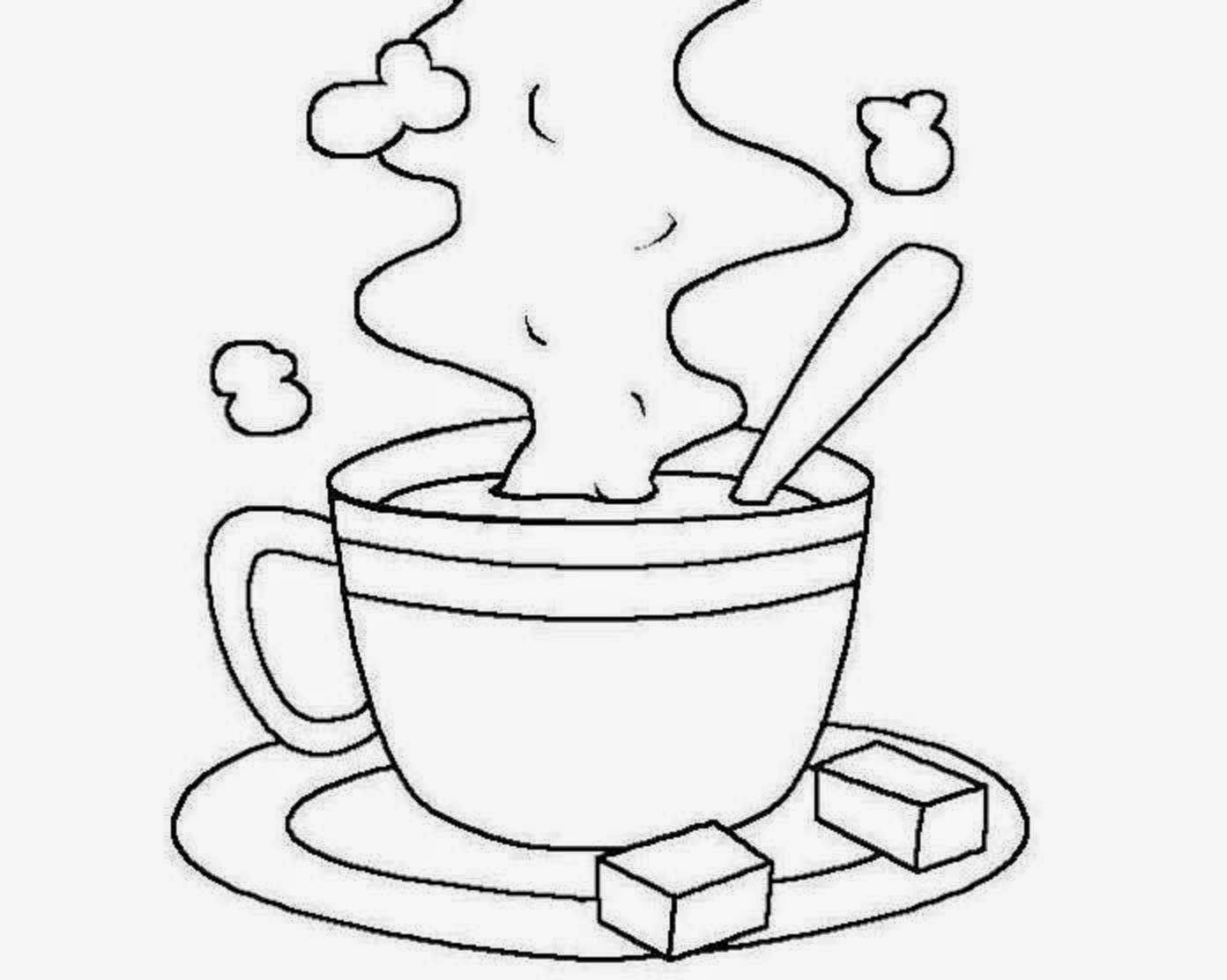 1392x1112 Nice Hot Chocolate Coloring Page Gallery Ideas Coffee Cup Pages