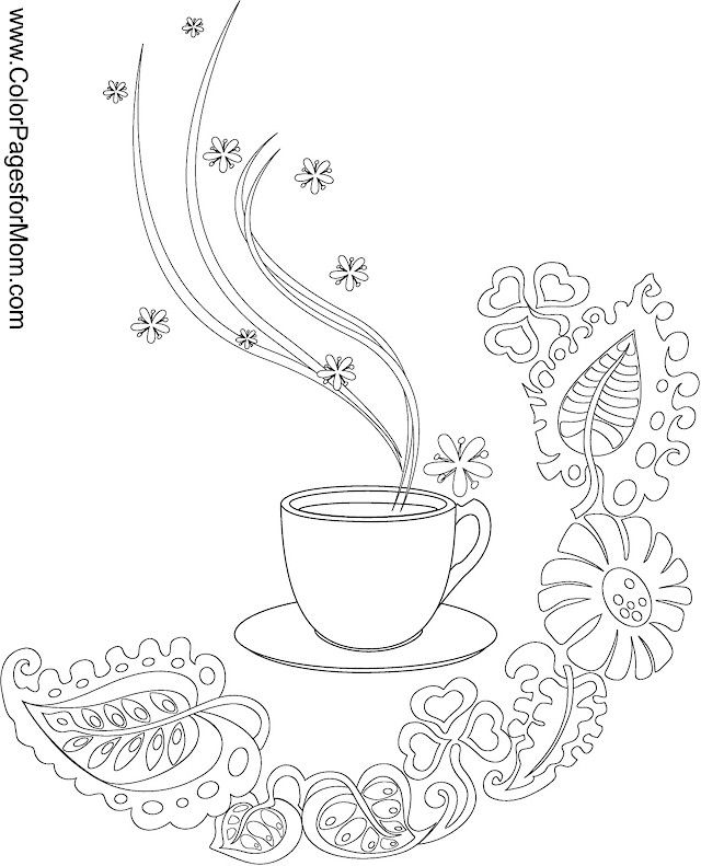 640x791 Coffee Coloring Page Coloring Pages Coffee