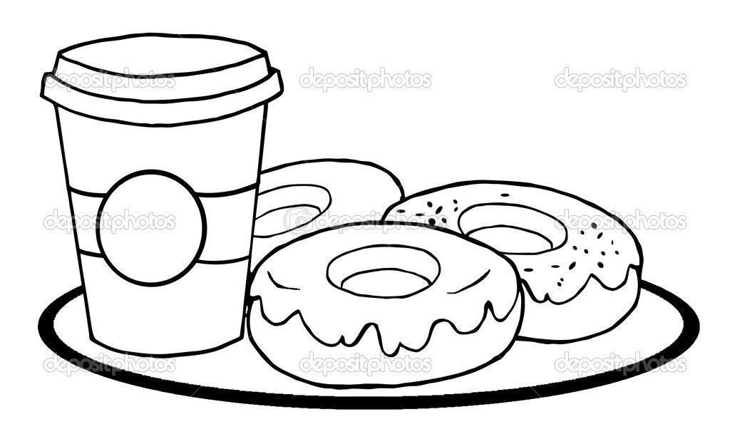 1024x623 Coffee Mug Coloring Page